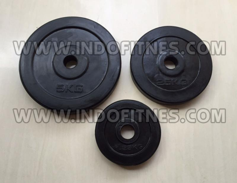 Barbell Karet High Quality Rubber (Lubang 3cm)
