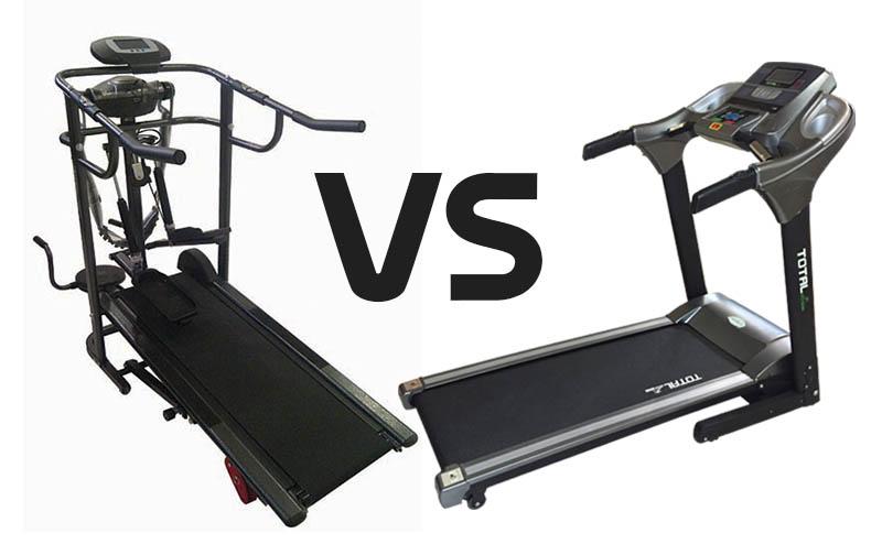 Ilustrasi Perbedaan Treadmill Manual dan Elektrik