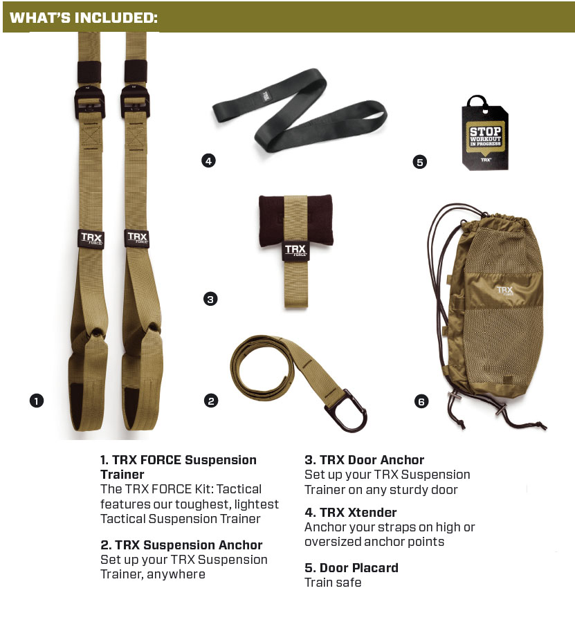 TRX suspension tactical force T4